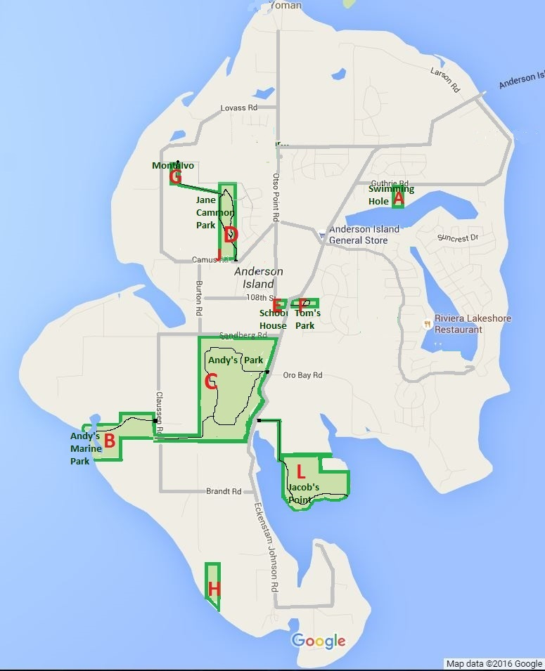Anderson Island Map Parks and Trails Anderson Island. 18 public parks, hiking trails